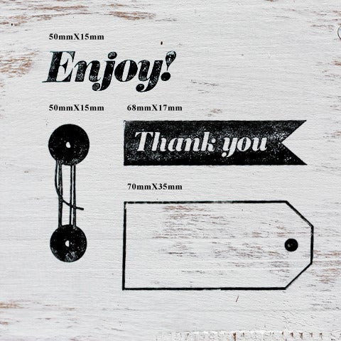 Image of 'Enjoy' Wooden Stamp