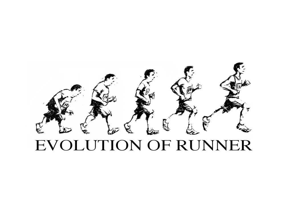 Image of Evolution of Runner - Green