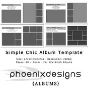 Image of Simple Chic Album Template - For 12x12inch Albums