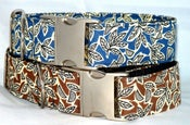 Image of Retro Leaves Dog Collar on UncommonPaws.com