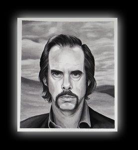 Image of Nick Cave Portrait Print by Brenda Flatmo