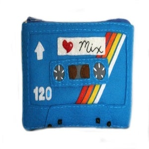 Image of Special Edition Mix Tape Pouch - Love Mix Blue