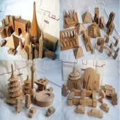 Image of muji wooden world blocks-paris, china, taiwan, and world heritage sets