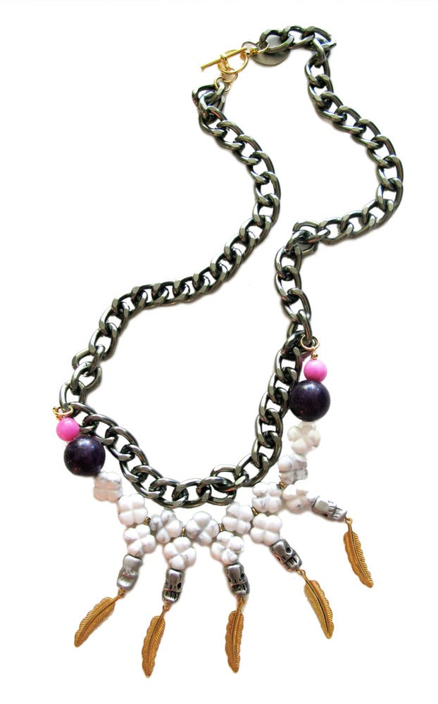 Image of Pepper Skull Necklace (LIMITED)