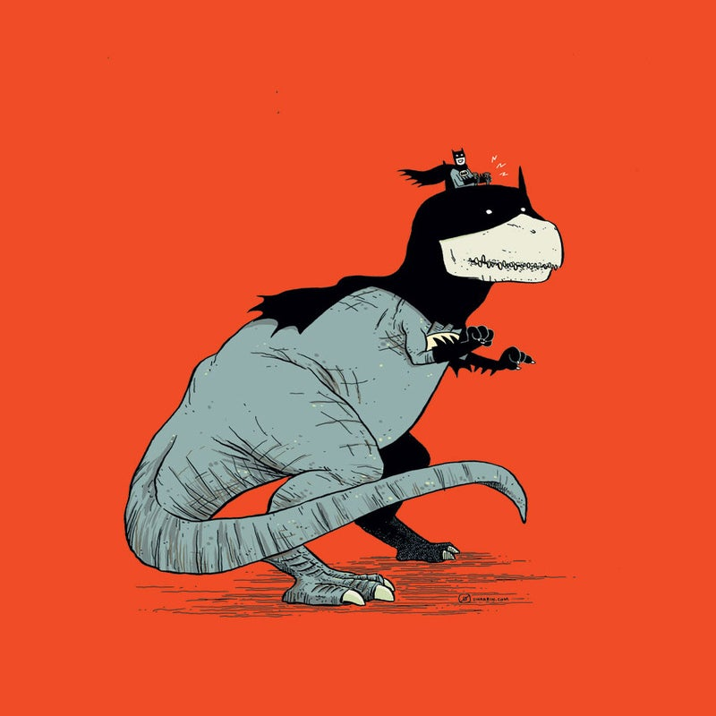 Image of PRINT :: Tyrannosaurus Bats!