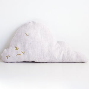 Image of Cloud Cushion - Grey-Lavender