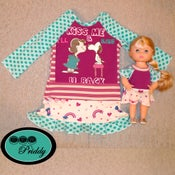 Image of Snoopy & Lucy Kiss Me Dress - Size 2T w/ coordinating doll dress option