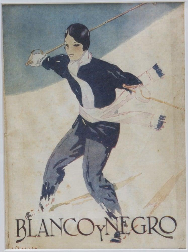 Image of 2nd Vintage Deco magazine cover Blanco y Negro
