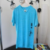 Image of Super-Soft Vintage V-Neck (Tahitian Blue)