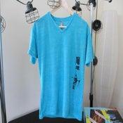 Image of Super-Soft Vintage V-Neck (Tahitian Blue)