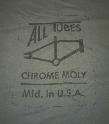 Image of All Tubes Chromoly Old School BMX Guys T-Shirt