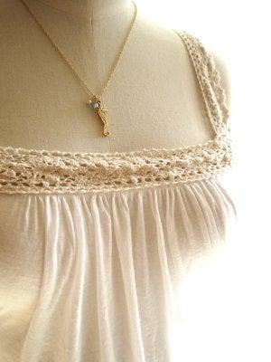 Image of Seahorse necklace - Mo'o Lio Gold