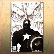 Image of Captain America Line Art Print