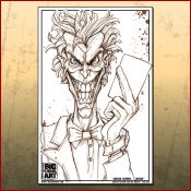 Image of Joker Line Art Print