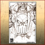 Image of Punisher Line Art Print