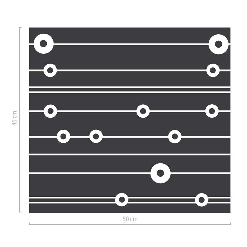 Image of Geometrisches Fenstertattoo mit Kreisen und Linien