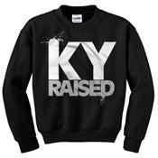 Image of Ky Raised Crewneck Sweatshirt in Black / White / Grey
