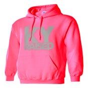 Image of Ky Raised Pink / Grey Hooded Sweatshirt