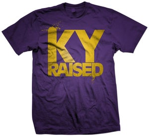 Image of Ky Raised in Purple and Gold