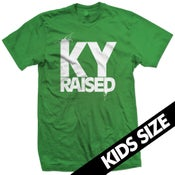Image of Ky Raised Kids Tee in Green and White