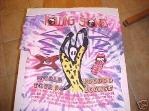 Image of Rolling Stones 1994 VOODOO LOUNGE Concert World Tour XL T-Shirt