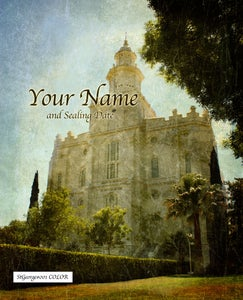 Image of St George Utah LDS Mormon Temple Art 001 - Personalized LDS Temple Art