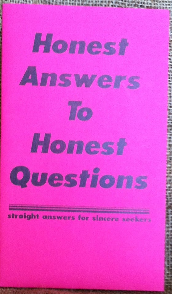 Image of HONEST ANSWERS TO HONEST QUESTIONS BIBLE STUDY SERIES