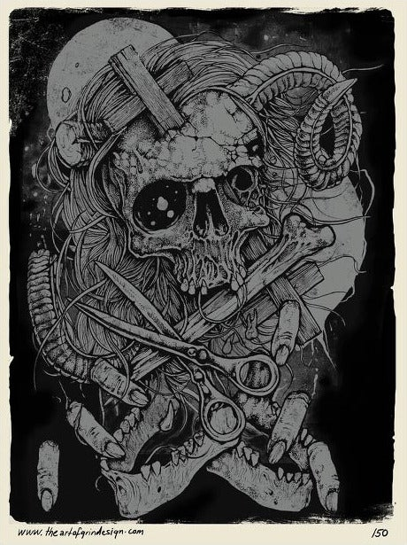 Image of GRINDESIGN - JAWS POETICA limited print