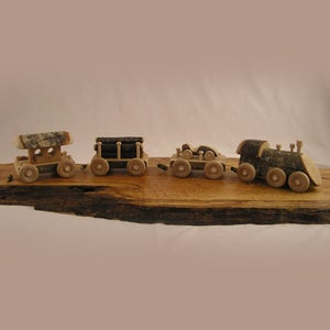 Image of Freight Engine Train Set (4 Piece Set)