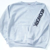 Image of #DOWORK. Crewneck - Grey (Sleeve Print)