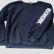 Image of #DOWORK. Crewneck - Black (Sleeve Print)