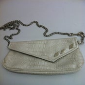Image of White/Silver PD Purse/Clutch/Fanny