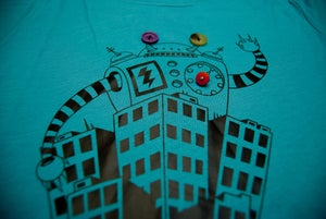 Image of Big Robots Visit Cities Womens Tshirt