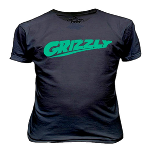 Image of BLACK/GREEN GRIZZLY TEE