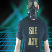 Image of SLE/AZY Tee-Black w/Gold Shimmer