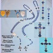 Image of Cat's Eye, Blue Rosaries