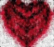 "Image of Red Heart with Letters 'LOVE"" T-Shirt"