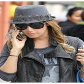 Image of Ashley Tisdale - Fedora w/Grey Feather Band