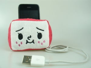 Image of Strawberry TO-FU Plush Mobile Holder