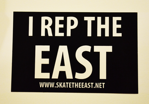 """Image of """"I Rep The East"""" Sticker"""
