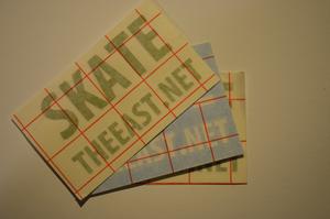 """Image of """"Skate The East.net"""" Block Vinyl Sticker RANDOM COLOR 3 Pack"""