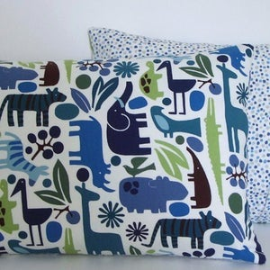 Image of Blue Retro Zoo Cushions