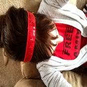 Image of Free Amir Red Sparkle Bani Band Headband