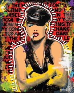 """Image of MADONNA 16"""" X 20"""" Mixed Media on Mounted Canvas"""