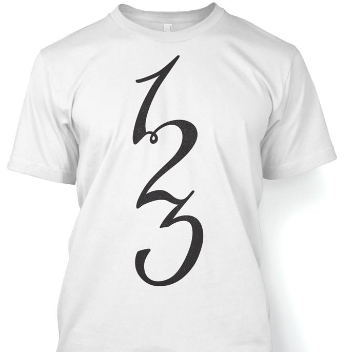 Image of '123' Tshirt White