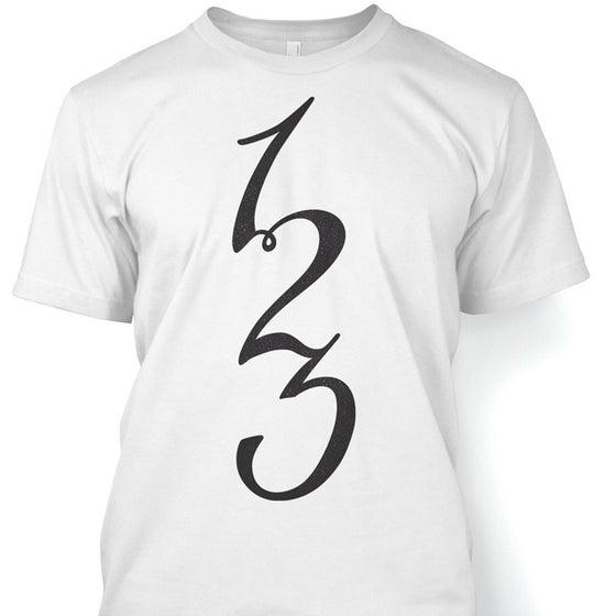 Image of '123' Tshirt White