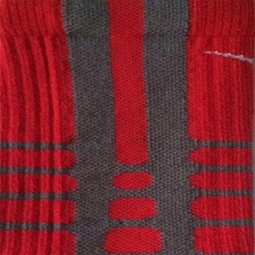 Image of Nike Elite Platinum Red Crew Socks