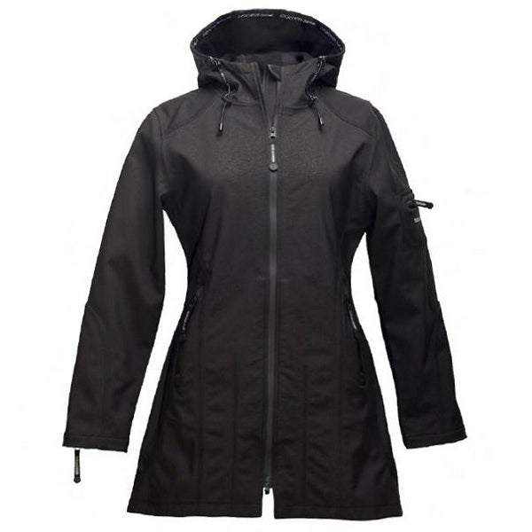 Image of Ilse Jacobsen 3/4 Length Raincoat - Black