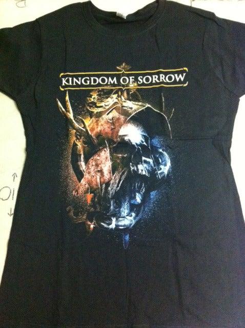Image of Kingdom Of Sorrow 2nd Album Cover Babydoll Girl Shirt