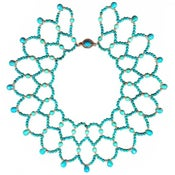 Image of Turquoise Collar Necklace with Sterling Silver